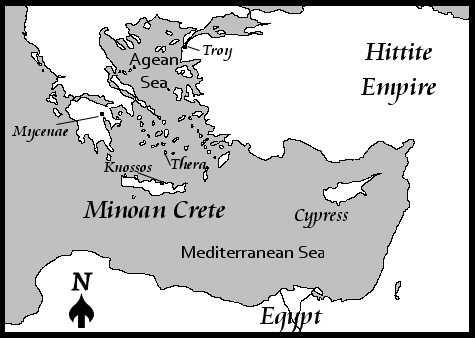 Minoan-Mediterranean Sea-map